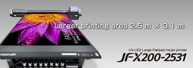 Mimaki <b>JFX200</b>-<b>2531</b> wide format extended flatbed UV printer