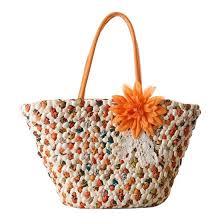 Shop New flowers <b>straw bag women</b> leather <b>handbag fashion</b> ...