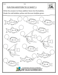 1000+ images about First grade on Pinterest | First Grade, Blank ...homeschool math worksheet fun addition to 12 fish 1