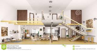 images loft living modern loft apartment interior in cut d render