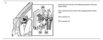 trailer wiring module or not 20a in position 20 mini fuse if the charging function will be used