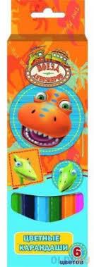 <b>Набор цветных карандашей Action</b>! Поезд Динозавров 6 шт ...