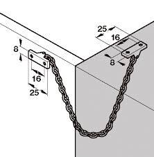 <b>Ограничитель раскрытия</b> латунь полиров. 200мм