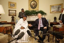 george w bush oval office. president george w bush and mali amadou tour meet in the oval office tuesday a