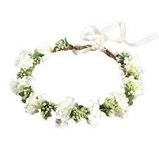 OULII <b>Wedding</b> Floral Headband <b>Women</b> Flower Head Wreath ...