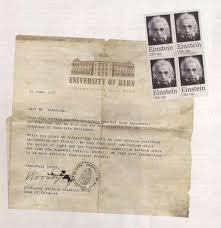 albert einstein rejection letter einstein stamp