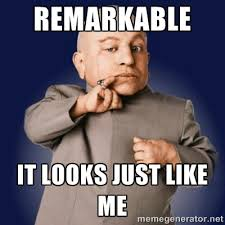 REMARKABLE IT LOOKS JUST LIKE ME - minime | Meme Generator via Relatably.com
