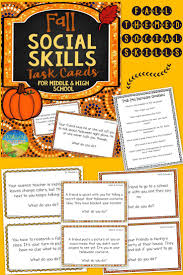 17 best images about halloween social skill fall themed social skills problem solving practice for middle and high school topics include friends