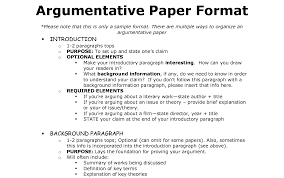 essay format sample argumentative essay format sample