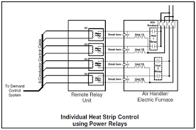 control of heat pumps energy sentry tech tip figure 2 relay installation on individual heat strips