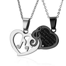 Couple <b>Heart Musical Note Necklace</b> - Artistic Pod
