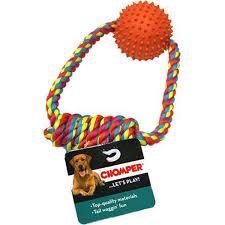 <b>Игрушка для собак CHOMPER</b> Мяч с петлей из каната ...