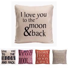 I Love <b>You</b> To The Moon & Back Наволочка <b>декоративная подушка</b> ...