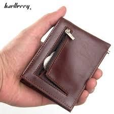 Anti theft <b>Men's Thin Wallet Slim</b> Leather Small <b>Billfold Wallet</b> for ...