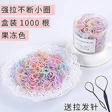 (1000) <b>high elastic hair tie</b> tousheng rubber band ponytail holder ...