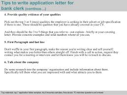4 tips to write application letter for bank clerk clerical jobs in banks