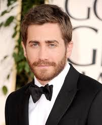 Jake Gyllenhaal  - 2018 Dark brown hair & crew cut hair style.