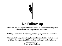 no follow up follow up yes it s