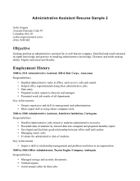 example resume objective statement administrative nice assistant gallery of administrative assistant objective for resume