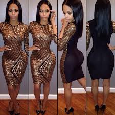 2019 <b>2016 Hot Sale</b> Sexy Black Club Bodycon Dress Europe And ...