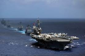 Image result for 美海军的两大航母战斗群就在南海海面上游弋