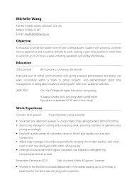 part time job resume format template standard resume format template