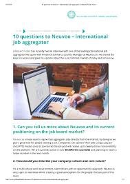 questions to neuvoo international job aggregator jobboard