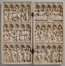 ivory carving in the gothic era thirteenth fifteenth centuries diptych scenes from christs passion