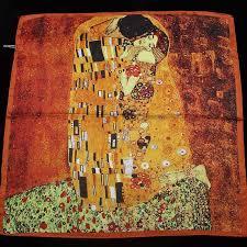 <b>YILIAN</b> Brand Art Klimt Oil Painting Print <b>Fashion</b> Silk Scarf <b>2019</b> ...