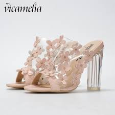 <b>Vicamelia</b> Newset Transparent High Heel Sandals With Small ...