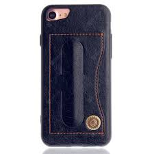 Leather Bracket Insert Card <b>Cell Phone</b> Shell For <b>iPhone</b> 7 Cases ...