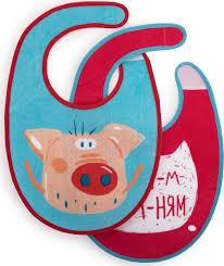 """Набор <b>нагрудников Happy Baby</b> """"<b>Pig</b>"""", 2 шт., непромокаемая ..."""