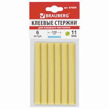 Купить <b>Клеевые</b> стержни, диаметр 11 мм, длина 100 мм, желтые ...