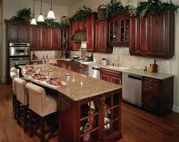 brown kitchen worktops