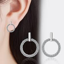 <b>TJP</b> Trendy 925 Sterling Silver Earrings For Women Party Jewelry ...