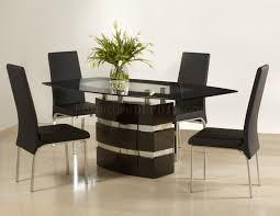 modern style contemporary dining table and optional chairs b131t modern noble lacquer dining table