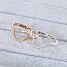 <b>Fashion Love Heart</b> Women Best Friend Ring Promise Jewelry ...