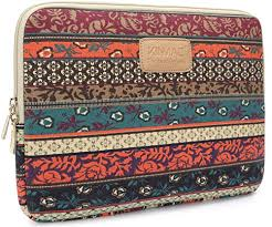 Kinmac New Bohemian Laptop Case <b>Canvas</b> Fabric Laptop Sleeve ...