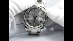 <b>PARNIS 41MM</b> OVERSIZE STERILE SILVER DIAL SAPPHIRE ...