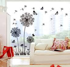 butterfly flying in dandelion bedroom stickerspoastoral style wall stickers original design pvc wall decals bedroom furniture sticker style