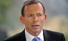 The federal opposition leader, Tony Abbott, in Sydney on Monday, said the world was turning its back on carbon pricing. Photograph: AAP/Paul Miller - tony-abbott-010