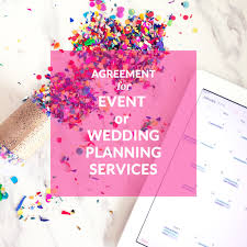 agreement for event or wedding planning services event planning contract templates