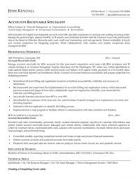 account receivable specialist of the fashion resume objective with account payable associate cover letter