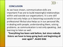 the role of effective communication skill in org pergen off practice