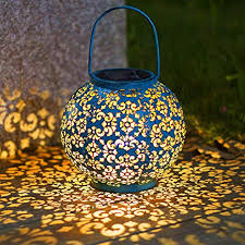 Solar Big Lantern Hanging <b>Garden</b> Outdoor <b>Lights</b> Metal <b>Waterproof</b> ...