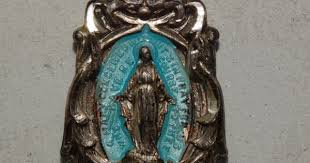 <b>Vintage</b> Virgin Mary Medal <b>Antique</b> Virgin Mary by TheIDconnection ...