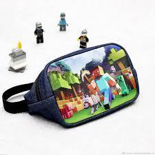 <b>Майнкрафт</b> Поясная джинсовая <b>сумка</b> для мальчика Подарок ...