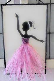 Ballerina <b>Art</b> Mixed Media <b>Ballet</b> Dancer Dance Studio <b>Decor 3D</b> ...