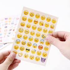 Cute <b>Lovely 48</b> Die Cut Emoji Smile Stickers decal For laptop sticker ...