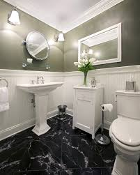 Image of: Modern Black and White Marble Tile